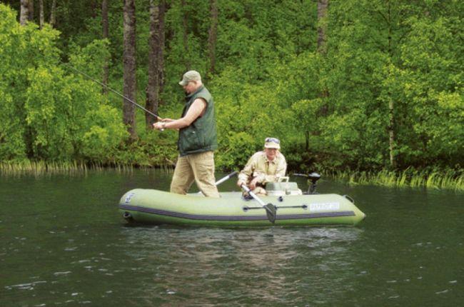 лодка, рыбалка, рыбаки