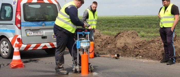 ремонт дороги проба асфальта