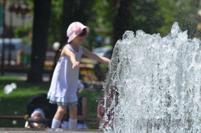 жара фонтан