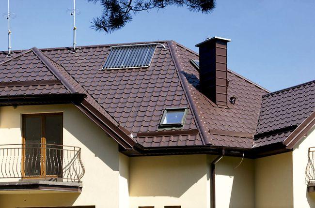крыша дома металлочерепица