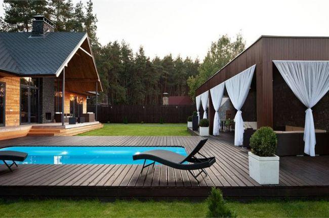 загородный комплекс с бассейном